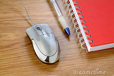 Mouse and note pad