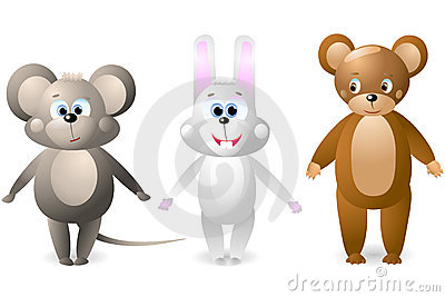 Mouse, rabbit, bear