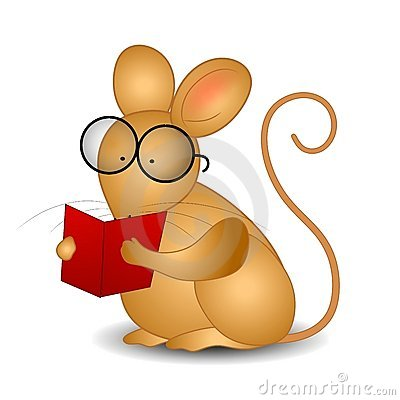 Mouse Reading a Book