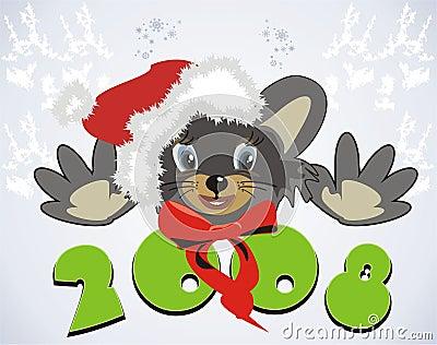 Mouse. Santa 2008