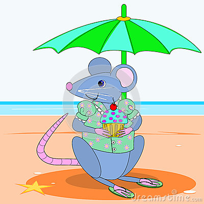 Mouse wearing a blouse