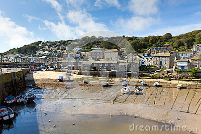 Mousehole Cornwall England UK Cornish fishing village