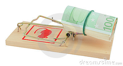 Mousetrap with euro
