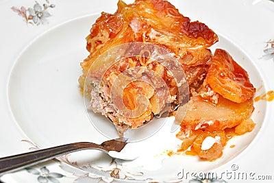 Moussaka-potatoes dish