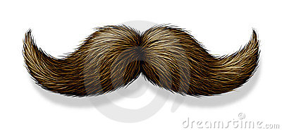 Moustache On White Background