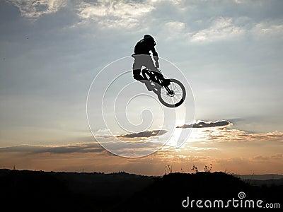 Moutain bike jump