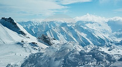 Moutain winter panorama