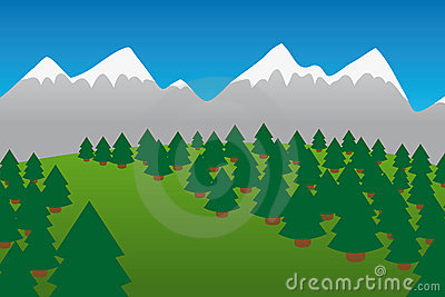 Moutains and Forest