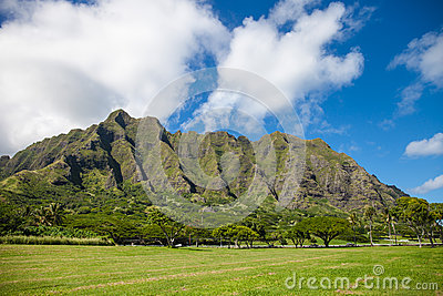 Moutains on Oahu, Hawaii