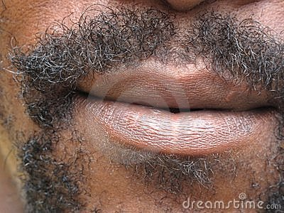 Mouth with beard