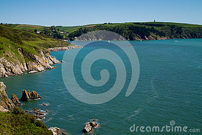 The mouth of the Dart Estuary in Devon