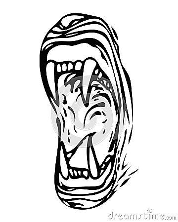 Mouth feline (vector)