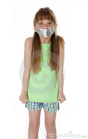 Free Mouth Taped Closed Royalty Free Stock Photo - 21180745