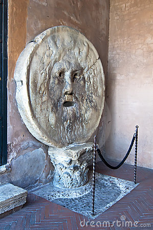 The Mouth of Truth in Rome, Italy