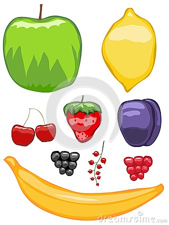 Mouth-watering fruit icons