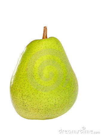 Mouthwatering pear isolated on white