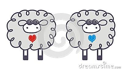 Moutons dans l amour