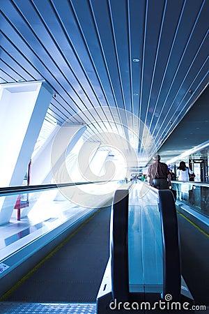 Move people on escalator