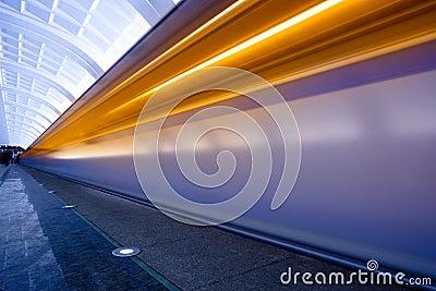 Move trains with orange lights