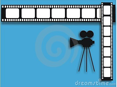 Movie camera and film strip