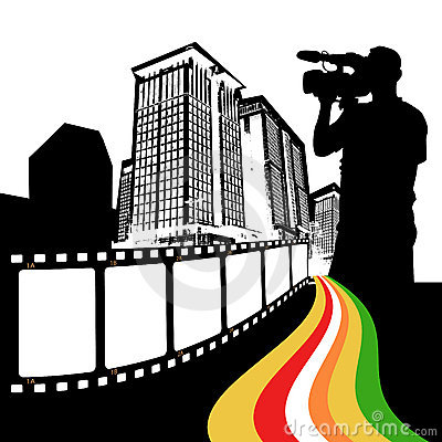 Movie city vector