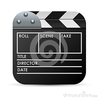 Movie clapboard illustration