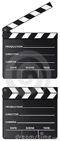 Movie clapper board isolated