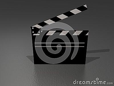Movie clapper bw