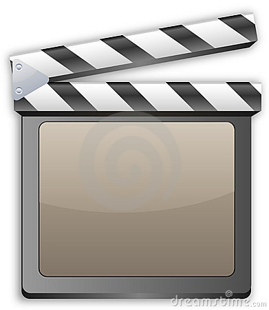 Movie clapper, clapboard, clapperboard, film slate