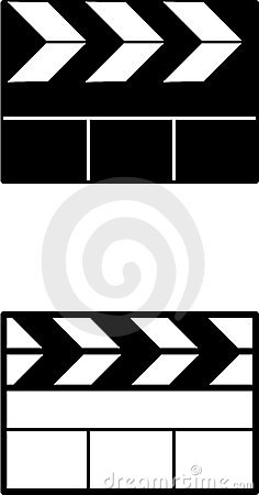 Movie clapperboard vector symbols