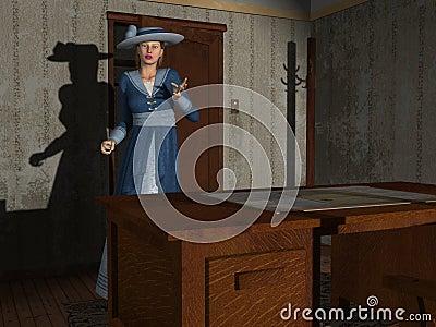 Movie Damsel 3D render