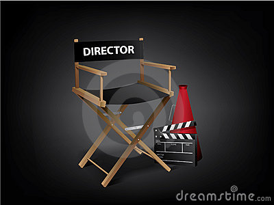 Movie director chair Vector Illustration