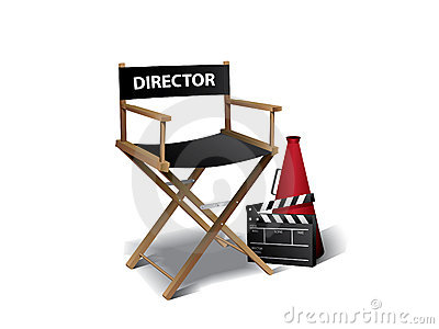Movie director chair Vector Illustration