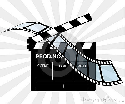 Movie director clapperboard