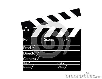 Movie director clapperboard
