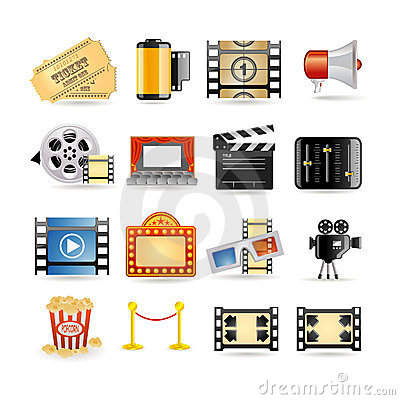 Movie icon set