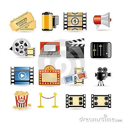 Free Movie Icon Set Royalty Free Stock Images - 13536819