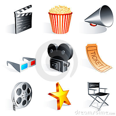 Free Movie Icons. Royalty Free Stock Photo - 13433145