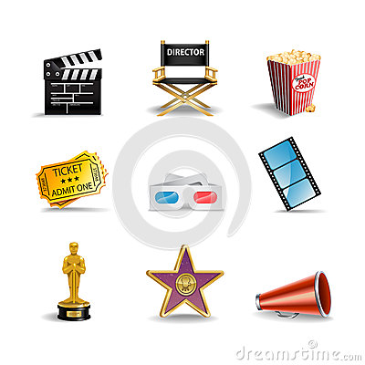 Free Movie Icons Stock Photo - 28958320