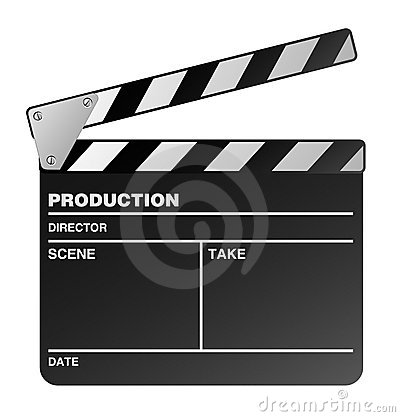Movie maker clapperboard