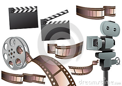 Movie Object Royalty Free Stock Image - Image: 25123566