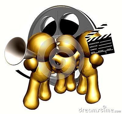 Movie production crew icon figures