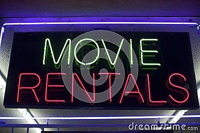 Movie rentals neon