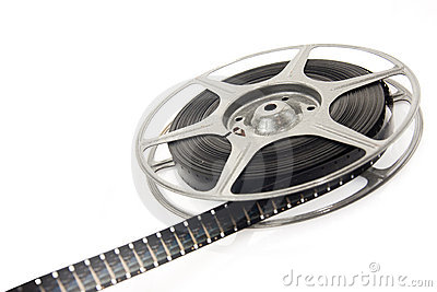 Movie spool with film