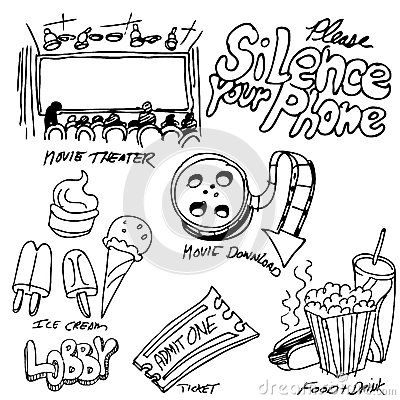 Movie Theater Object Set