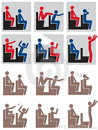 Movie Theater Rules Icon Set