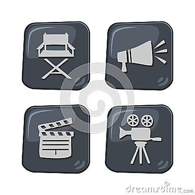 Movie theme icon Vector Illustration