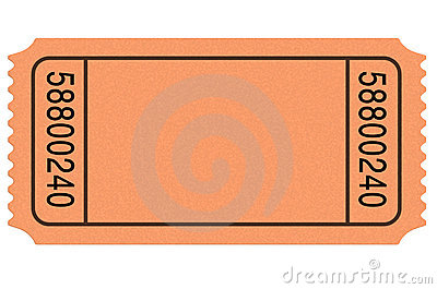 Movie Ticket Blank Royalty Free Stock Image - Image: 14070756