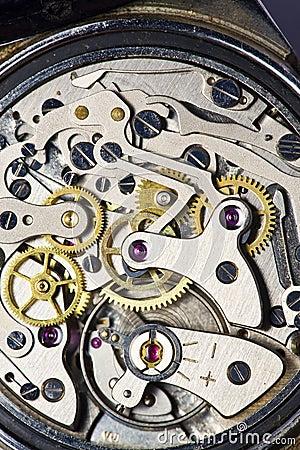 Movimento do relógio do vintage