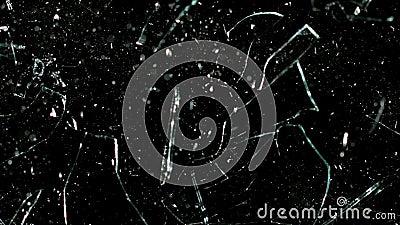 Movimento lento eccellente arrostito dei chicchi di caffè di vetro rotto archivi video